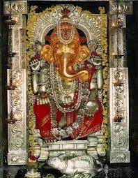 Shri Anegudde Vinayaka Temple in Kumbashi village, Karnataka. This is the  place where Lord Ganesha gave a sword to Bheem…   Ganesha painting, Ganesha  hindu, Ganesha